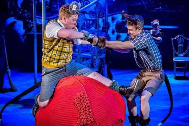 Jonny Weldon as Bruno and Fox Jackson Keen as the Boy. Photo: Catherine Ashmore.