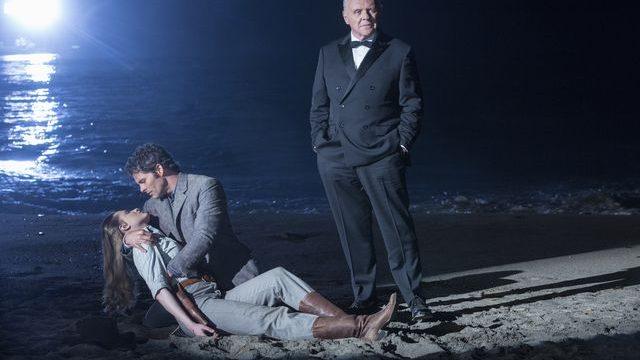 © HBO - Evan Rachel Wood as Dolores, James Marsden as Teddy Flood, Anthony Hopkins as Dr Robert Ford