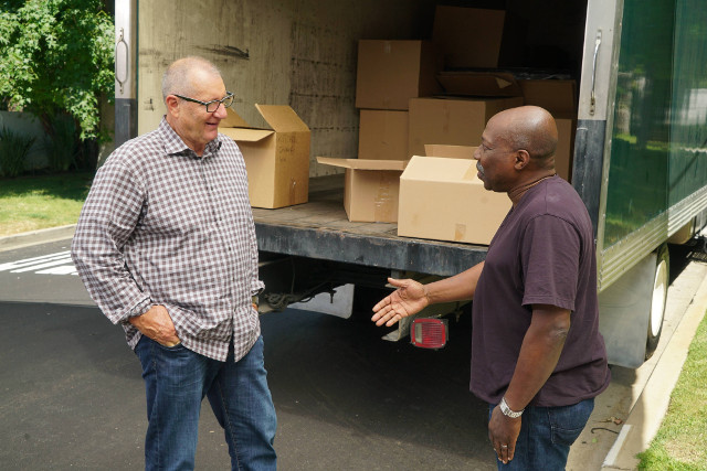 """(L-R): Jay (Ed O'Neill) and Miles (Ernie Hudson) in """"A Stereotypical Day."""""""