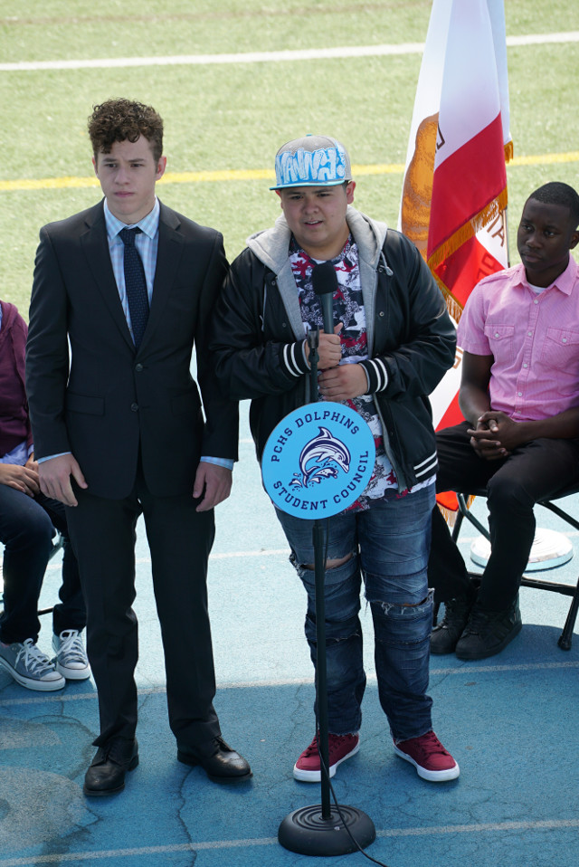 """(L-R): Luke (Nolan Gould) and Manny (Rico Rodriguez) in """"Blindsided."""""""