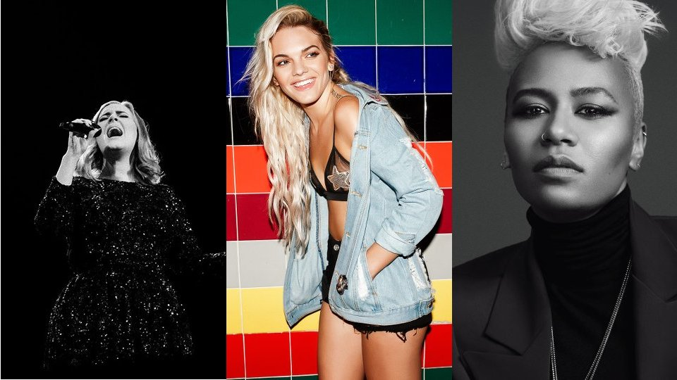 Adele, Louisa Johnson and Emeli Sande