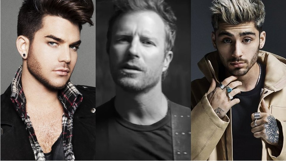 Male Vocalist of the Year 2016 - Adam Lambert, Dierks Bentley, Zayn Malik
