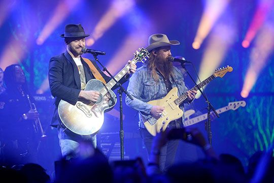 Justin Timberlake and Chris Stapleton at The Roundhouse in London