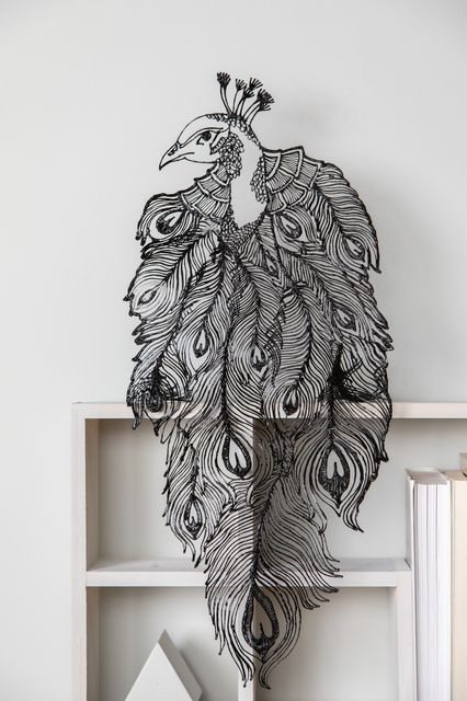 3Doodler Create+ peacock portrait