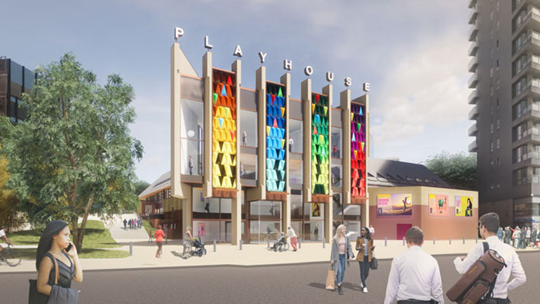 Leeds Playhouse new build visualisation
