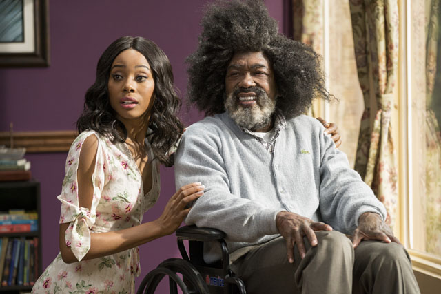 "Erica Ash as ""Maya"" and Nate Robinson as ""Boots"" in UNCLE DREW."