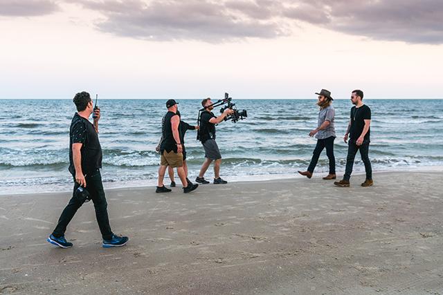 Brothers Osborne shooting Ram Trucks commercial