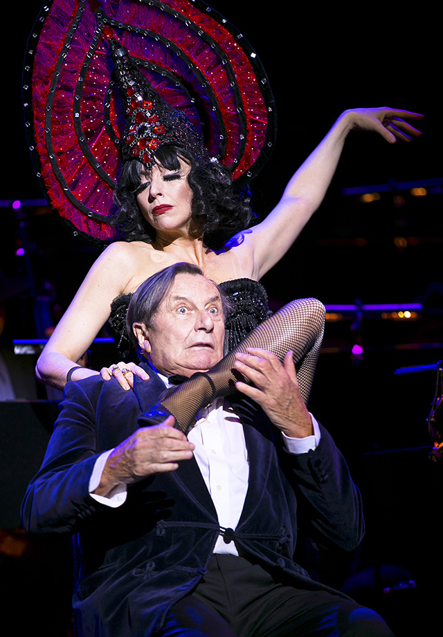 Barry Humphries Weimar Cabaret review Barbican Theatre London