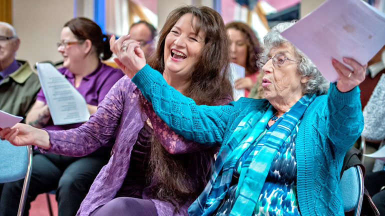 Singing session for people living with dementia Credit Anthony Robling