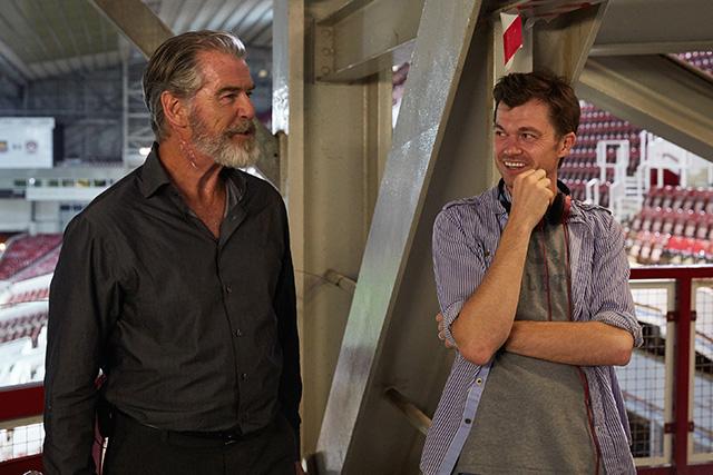 Pierce Brosnan and Scott Mann
