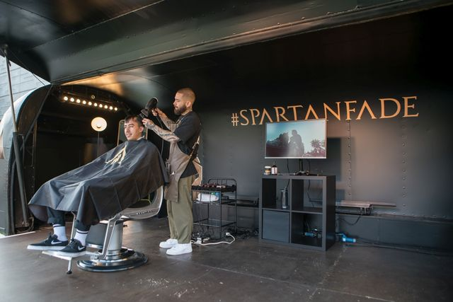 Become Spartan with Assassins Creed Odyssey and Nomad Barber #Spartanfade