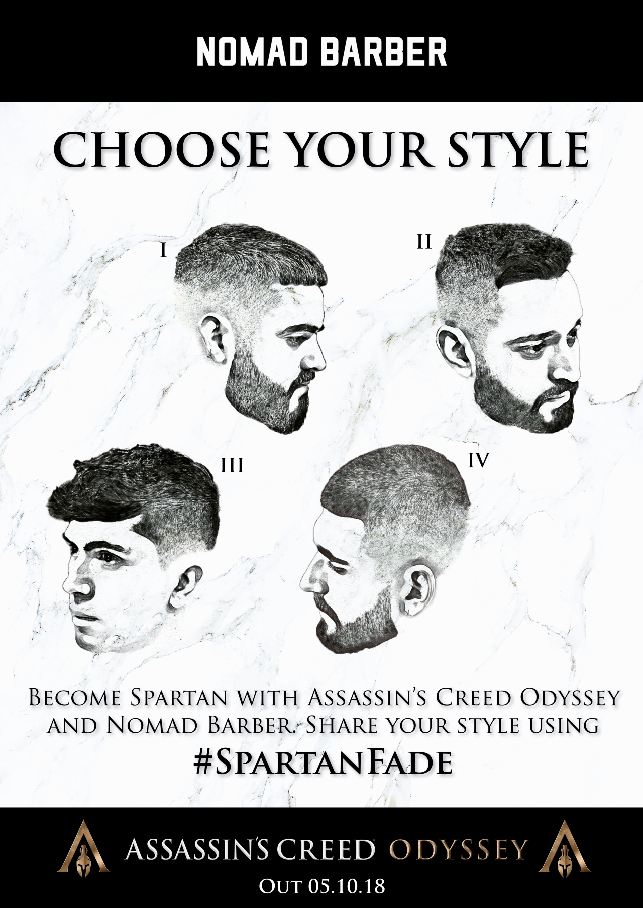 #SpartanFade Styles Selection Poster