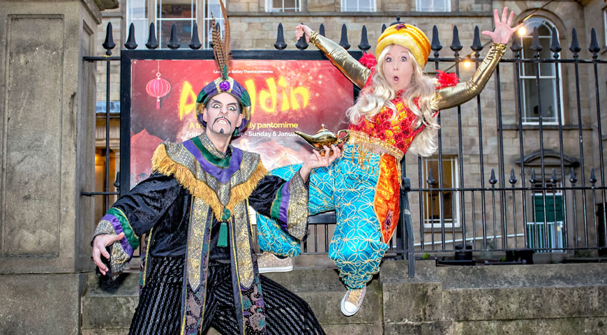 Aladdin at Lawrence Batley Theatre Credit Anthony Robling