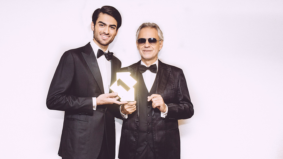 Matteo and Andrea Bocelli