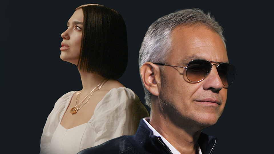 Dua Lipa and Andrea Bocelli