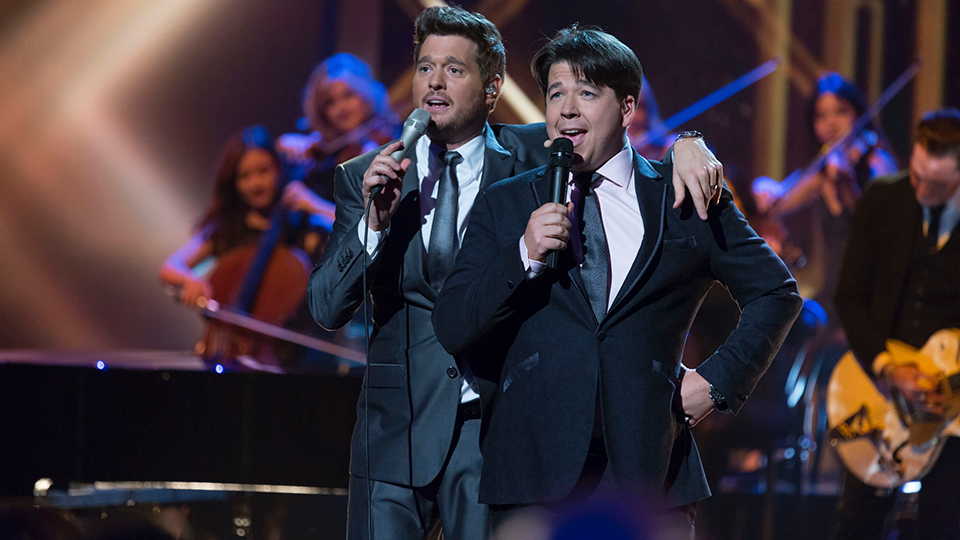 Michael Buble and Michael McIntyre