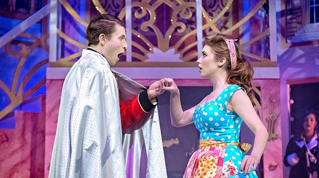 Alex Wingfield as Prince Charming and Grace Lancaster as Cinderella. Credit: Anthony Robling.