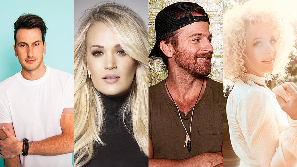 Russell Dickerson, Carrie Underwood, Kip Moore and Cam