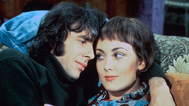 Richard O'Sullivan and Paula Wilcox in Man About The House. Credit: Network