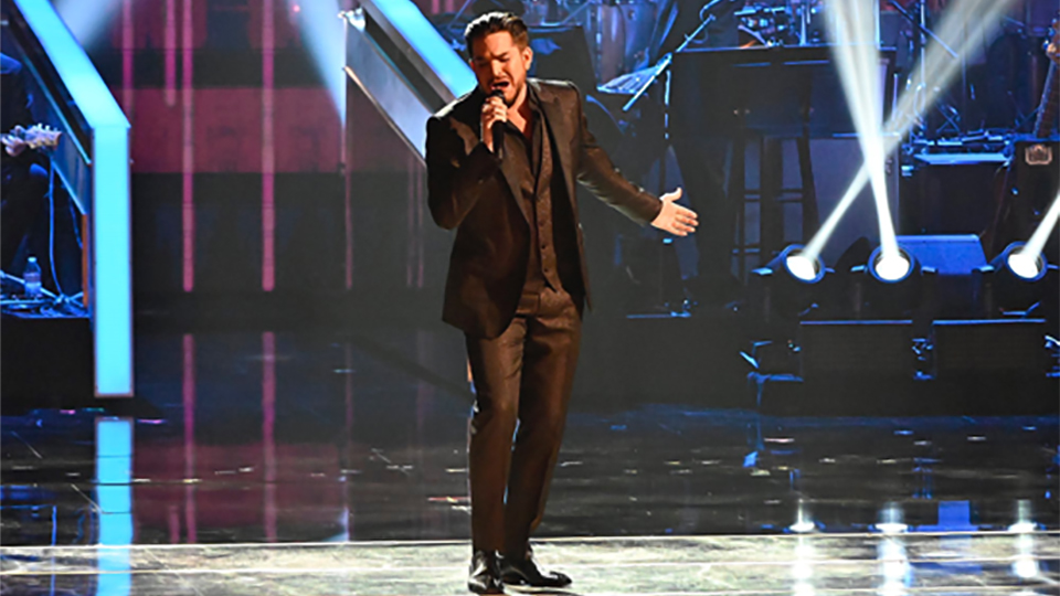 Adam Lambert performing at the Kennedy Center Honors