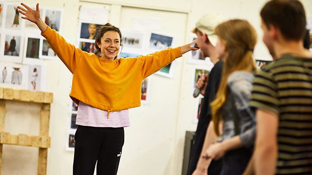 Tessa Parr in rehearsals for Hamlet. Credit: David Lindsay.