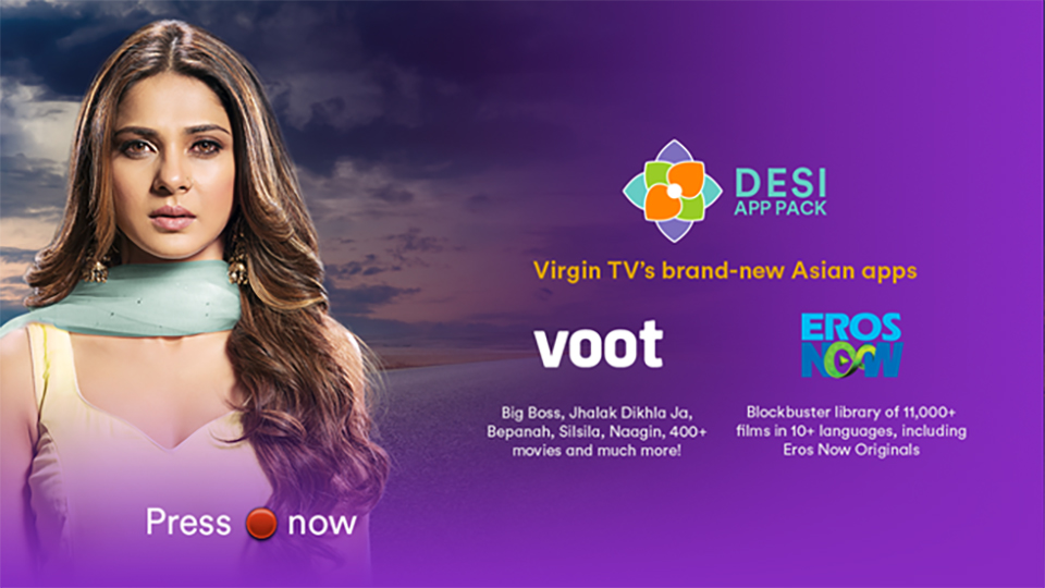 Virgin TV's Desi App Pack
