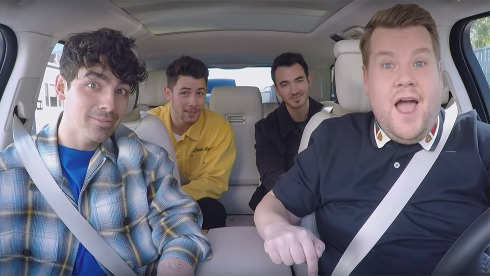 Jonas Brothers and James Corden