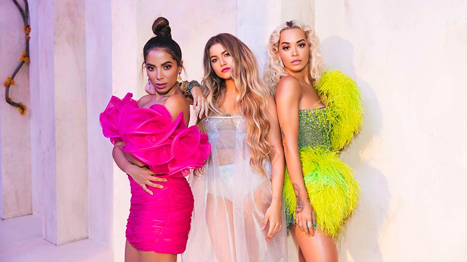 Anitta, Sofia Reyes and Rita Ora