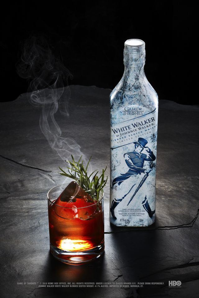 Game of Thrones - White Walker by Johnnie Walker - Dragonglass Old Fashioned serve with bottle