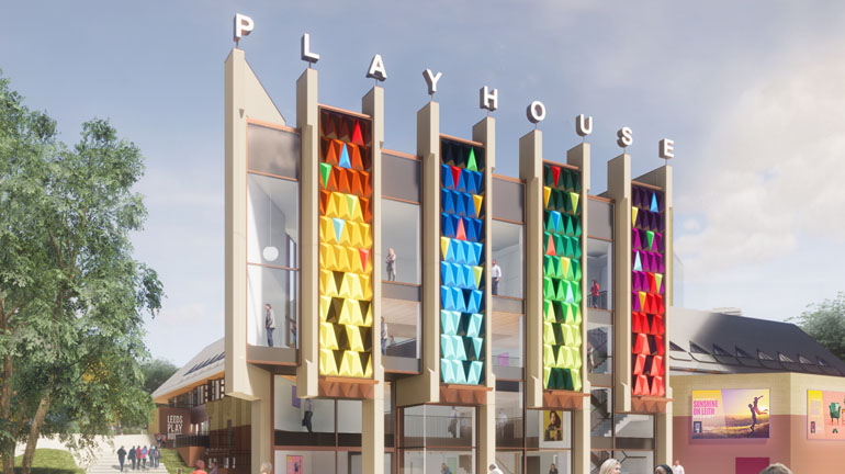 New beginnings - the rejuvenated face of Leeds Playhouse. Credit: Page Park