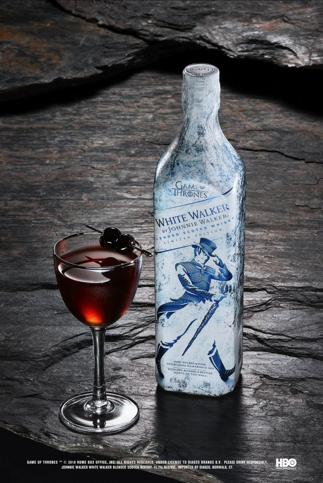 Game of Thrones - White Walker by Johnnie Walker - Sword in the Darkness serve with bottle