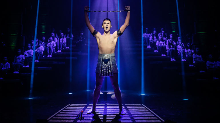 Jaymi Hensley (Joseph) - Joseph & The Amazing Technicolor Dreamcoat Credit Pamela Raith Photography.