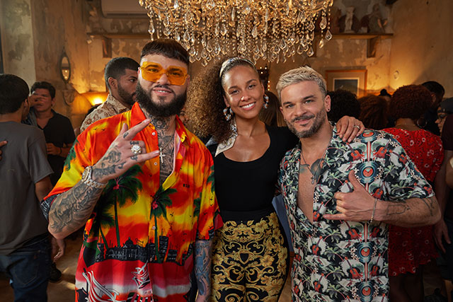 Farruko, Alicia Keys and Pedro Capó