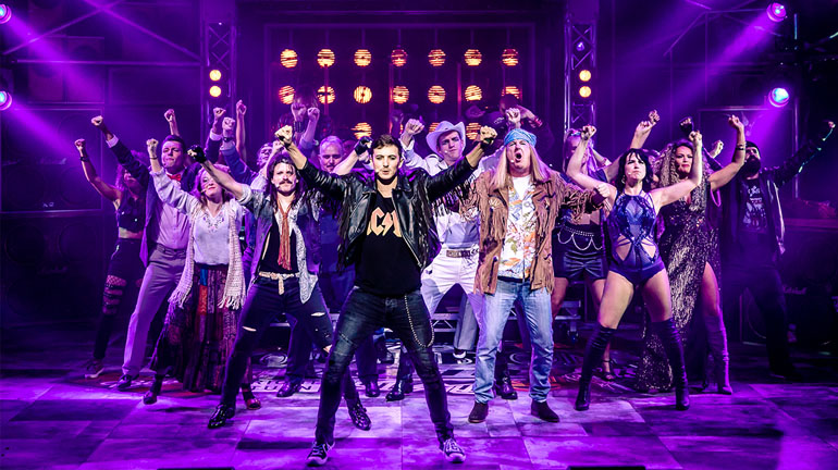 Rock of Ages at Leeds Grand Theatre - Credit Richard Davenport
