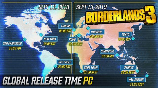Borderlands 3 - PC release schedule