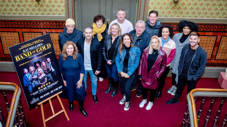 Kay Mellor and Band of Gold cast at Leeds Grand Theatre. Credit: Ant Robling.