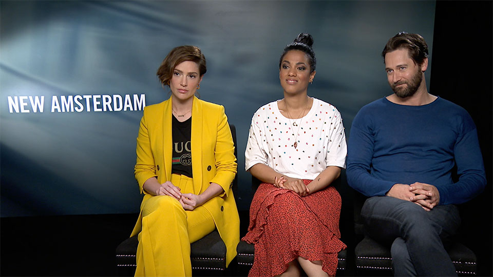 New Amsterdam - Janet Montgomery, Freema Agyeman and Ryan Eggold