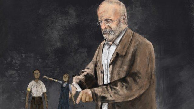Costume concept for Dr Korczak by Rose Revitt