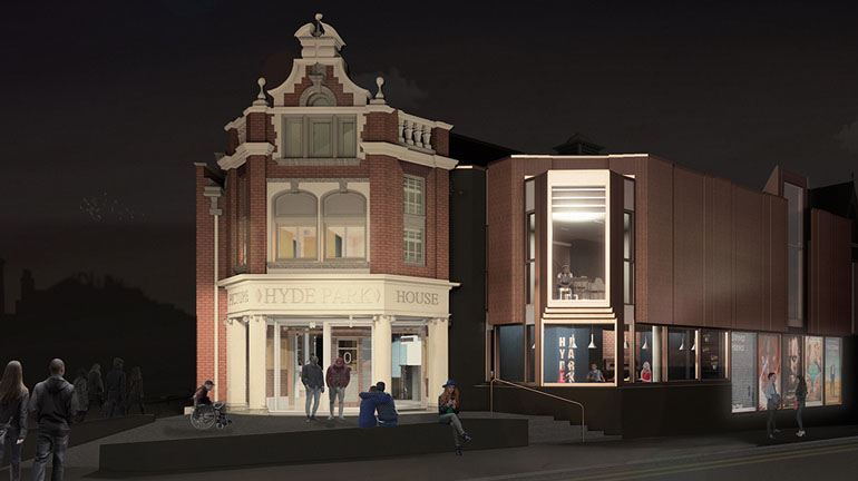 Visualisation of Hyde Park Picture House redevelopment. Credit: Page Park.