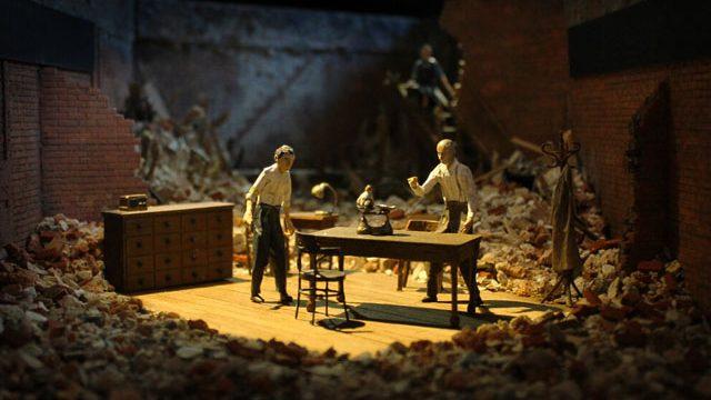 Linbury Prize winner - Rose Revitt's concept for Dr Korczak's Example in the Bramall Rock Void. Credit Rose Revitt.