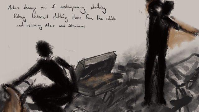 Rose Revitt drawn storyboard for Dr Korczak's Example