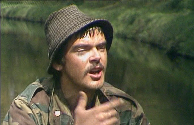 An early television role, and impressive moustache, for Kevin McNally in Parasites. Credit: BBC Worldwide.