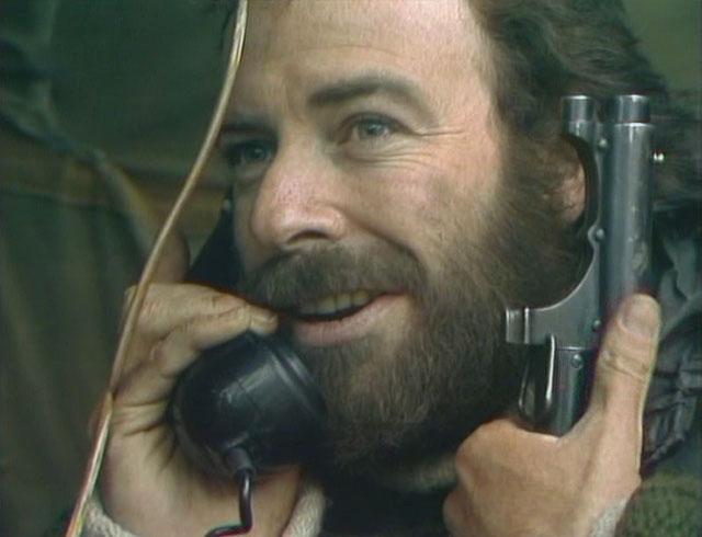 Charles Vaughn (Denis Lill) tracks down Greg Preston in Manhunt. Credit: BBC Worldwide.