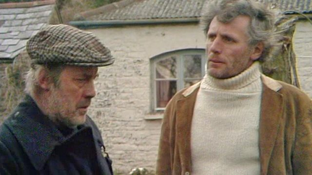 Hubert (John Abineri) is unsure about newcommer Alistair (John Line) in 'Face of the Tiger'. Credit: BBC Worldwide.