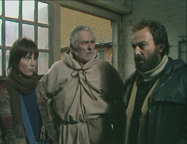 Jenny (Lucy Fleming), Frank (Edward Underdown) and Charles (Denis Lill) in The Peacemaker. Credit: BBC Worldwide.
