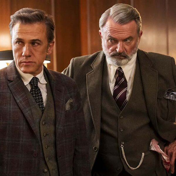 Christoph Waltz and Sam Neill in 'The Portable Door'
